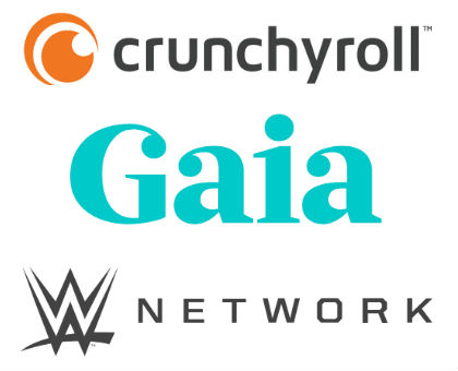 Streaming Video Crunchyroll Gaia WWE Network